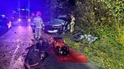 Wypadek w Bałoszycach. Dwie osoby w szpitalu [zdjęcia]
