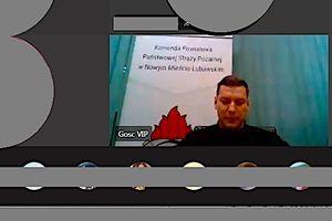 Lekcja zawodoznawcza w formie wideokonferencji w nowomiejskim Zespole Szkół im. C. K. Norwida