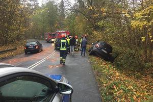 Uwaga kierowcy! Czołowe zderzenie na wyjeździe z Olsztyna