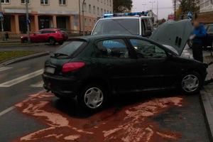 Utrudnienia na skrzyżowaniu w Olsztynie
