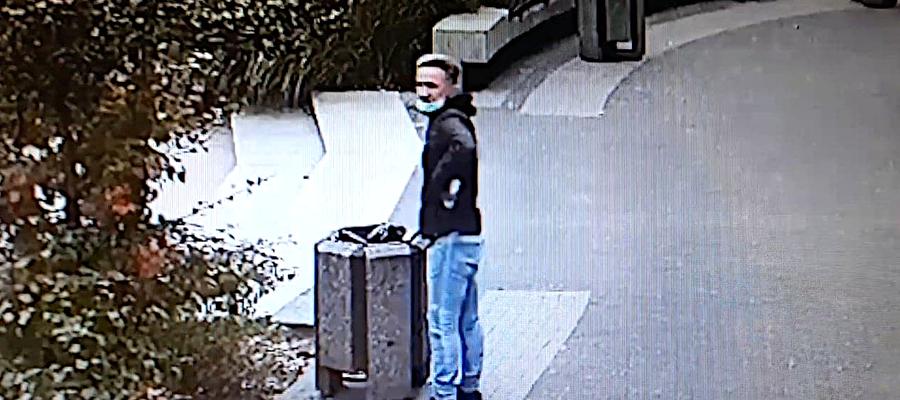 W miejscu pozostawienia gotówki jest zainstalowany monitoring, dzięki któremu policja ma możliwość opublikowania wizerunku podejrzanego mężczyzny