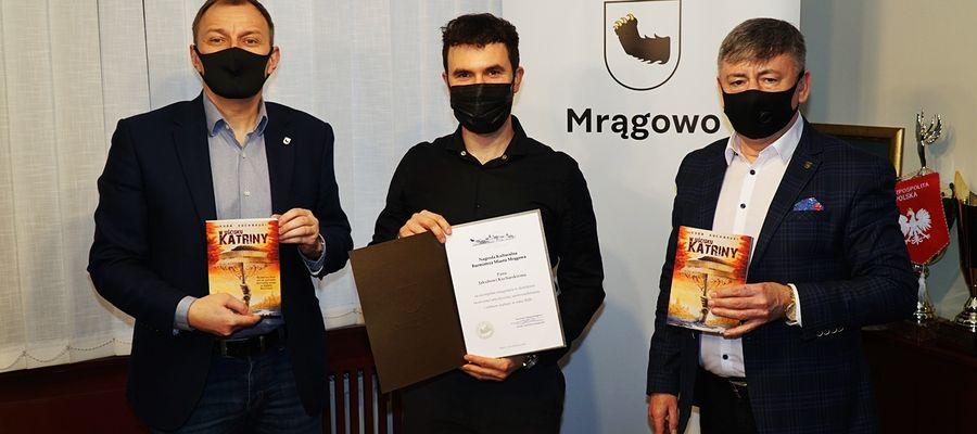 Jakub Kucharski jest 46. zdobywcą Nagrody Kulturalnej Burmistrza Miasta Mrągowo