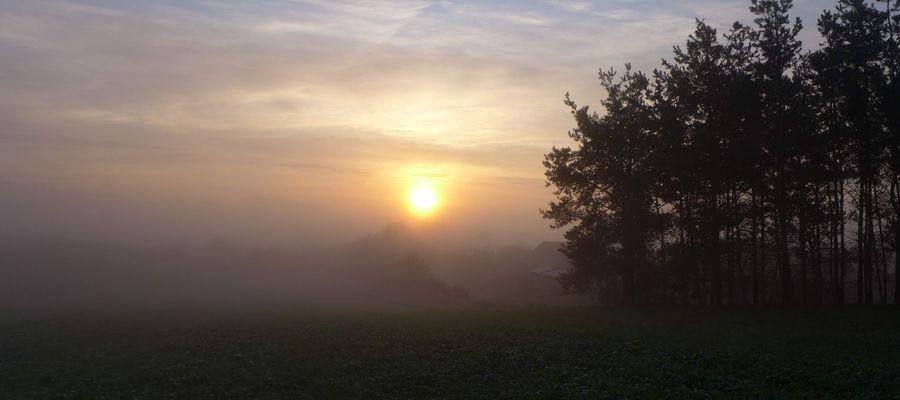 Wschód słońca w Nowym Mieście Lubawskim