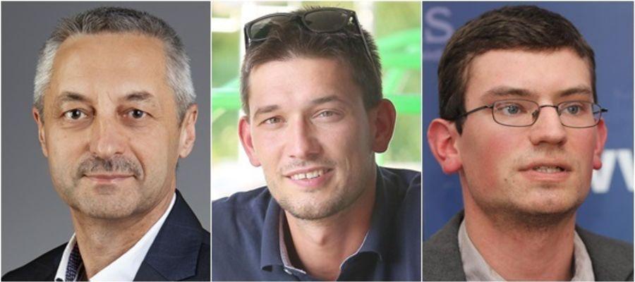Od lewej: Tomasz Głażewski, Paweł Klonowski, Radosław Nojman