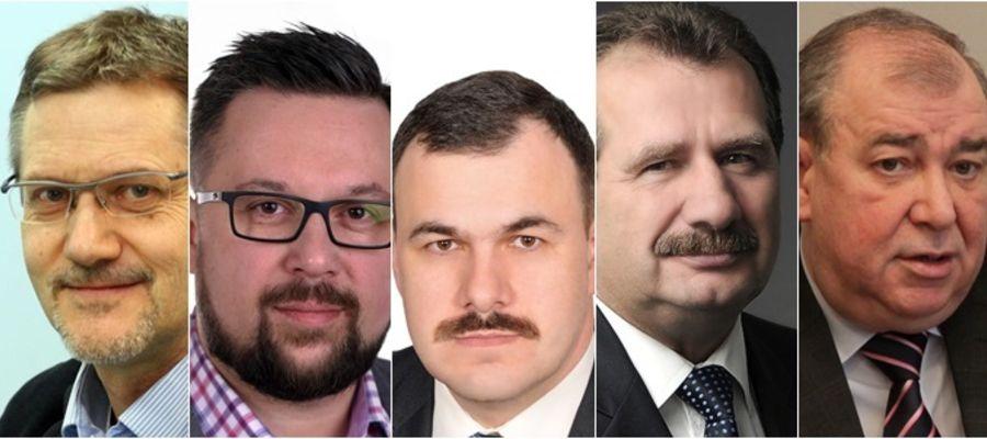 Od lewej: Janusz Cichoń, Marcin Kulasek, Piotr Lisiecki, Zbigniew Ziejewski, Jerzy Wilk