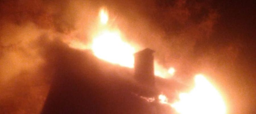 Groźny pożar w Wejsunach