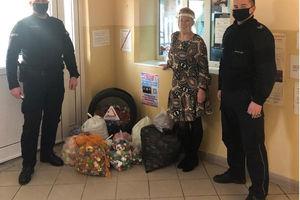 Sukces akcji zbierania nakrętek w lubawskim Komisariacie Policji
