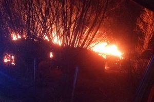 W Ignalinie zapaliła się obora
