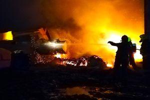 Pożar w Wawrowicach z przykrym incydentem