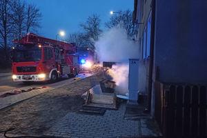 Pożar piwnicy na Warszawskiej