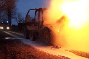 W Wielochowie spłonęła ładowarka