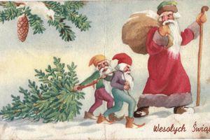 Kartki świąteczne ze starego kredensu