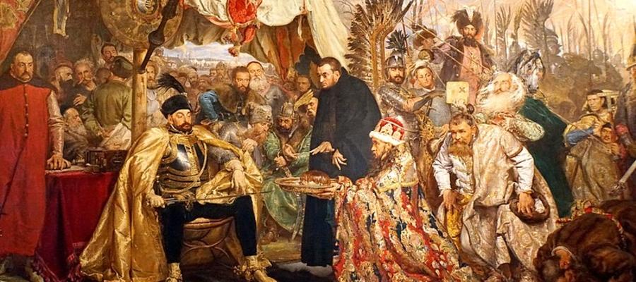Moskale drżeli przed potęgą Stefana Batorego - tu król Polski na obrazie Batory pod Pskowem, autorstwa Jana Matejki