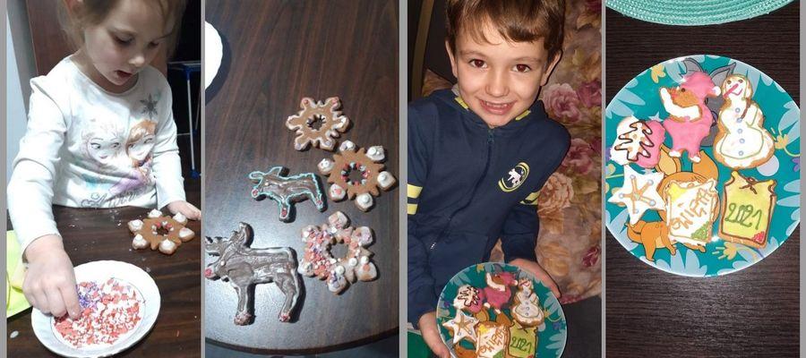 Dzieci robiły pierniki w domu i przesyłały do szkoły zdjęcia