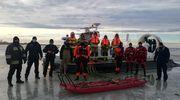 Strażacy i pogranicznicy z MOSG ćwiczyli na lodzie [ZDJĘCIA]