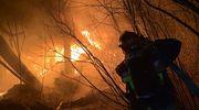 Pracowity Sylwester i Nowy Rok mrągowskich strażaków. Akcja gaśnicza w Baranowie wciąż trwa [ZDJĘCIA]