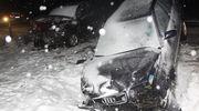 Zderzenie trzech aut w okolicach Szydłówka. Dwie osoby ranne