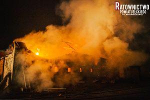 Pożar w gospodarstwie, spłonęły zwierzęta