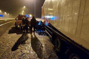 Trudne warunki na drogach Olsztyna i powiatu. 28 interwencji policji w ciągu jednego dnia