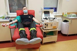 Strażacy z Olsztyna oddali osocze krwi