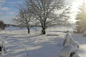 Prenumerata za zdjęcie. Ignalin zimą
