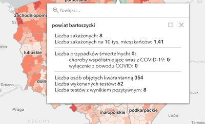 COVID-19 w powiecie bartoszyckim. Jak jest dzisiaj?