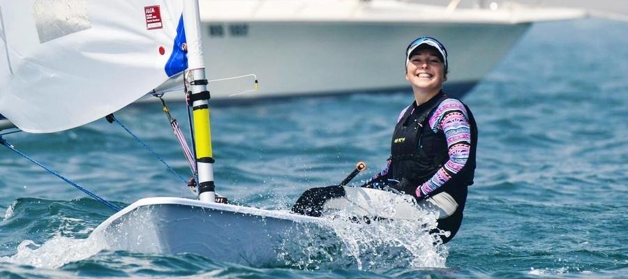 Agata Barwińska, żeglarka MOS SSW Iława, trzykrotna z rzędu mistrzyni Polski (lata 2016-18), brązowa medalistka ostatnich mistrzostw Europy