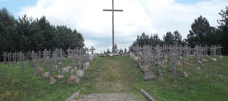 Krzyż w Gibach upamiętniający ofiary sowieckich zbrodni prowadzonych w ramach Obławy Augustowskiej