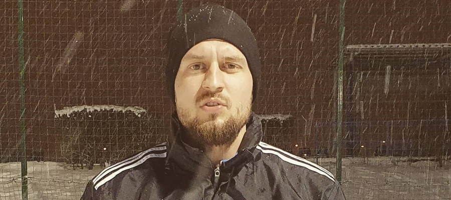 Hubert Otręba zameldował się już na pierwszym treningu GKS-u Wikielec (tu jeszcze w barwach Concordii)
