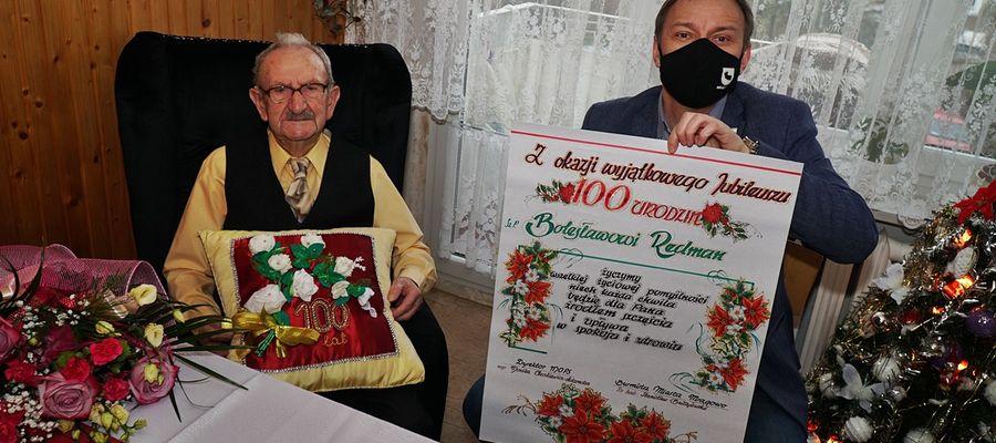 Jubilata odwiedził burmistrz Mrągowa Stanisław Bułajewski