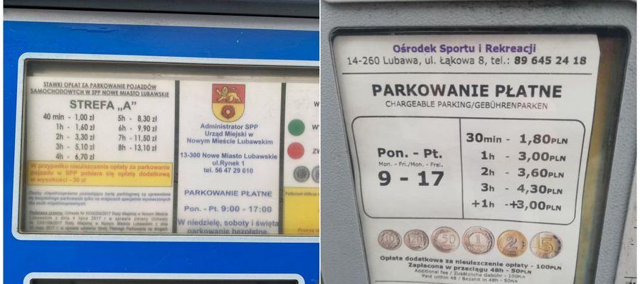 Parkometry w dwóch sąsiednich miastach