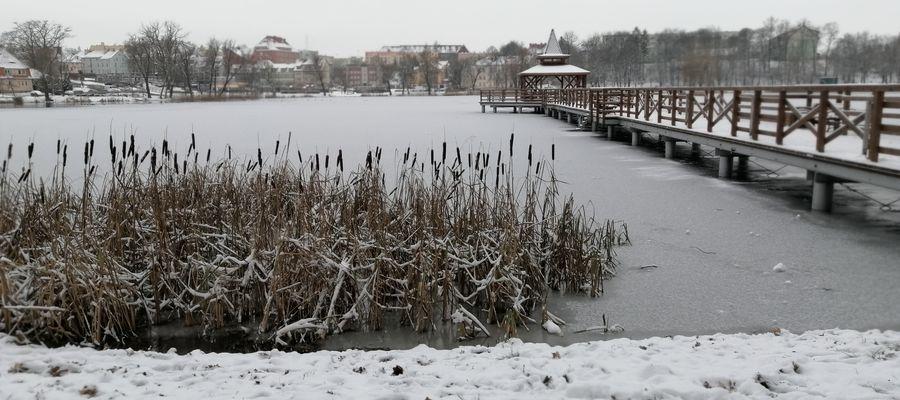 Jezioro Górne w Kętrzynie w wersji zimowej