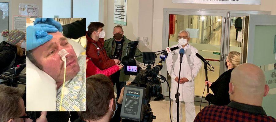 Profesor Wojciech Maksymowicz z olsztyńskiej kliniki Budzik, chce uratować Polaka, o którego śmierci zdecydowano w angielskim szpitalu.