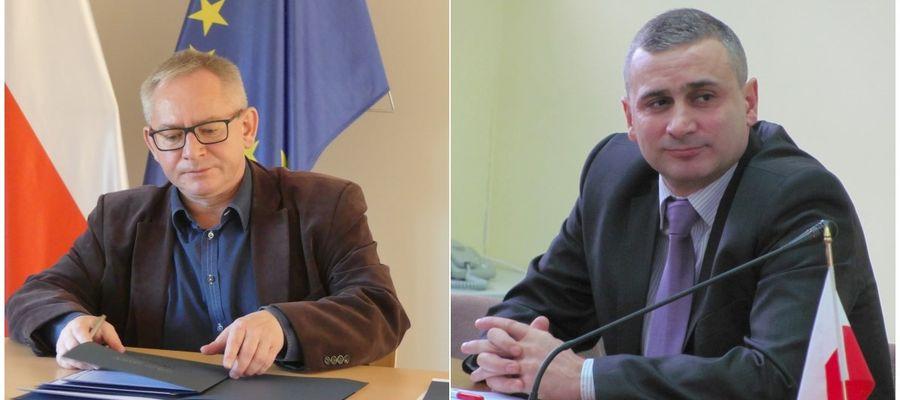 Z lewej: burmistrz miasta Lubawa Maciej Radtke, z prawej: wójt gminy Lubawa Tomasz Ewertowski