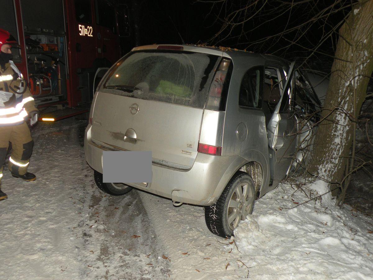 Auto uderzyło w drzewo