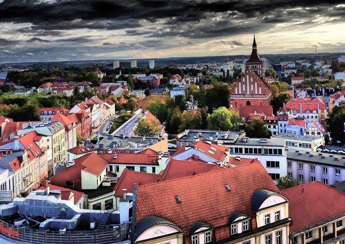 Widok z wieży ratuszowej, Olsztyn