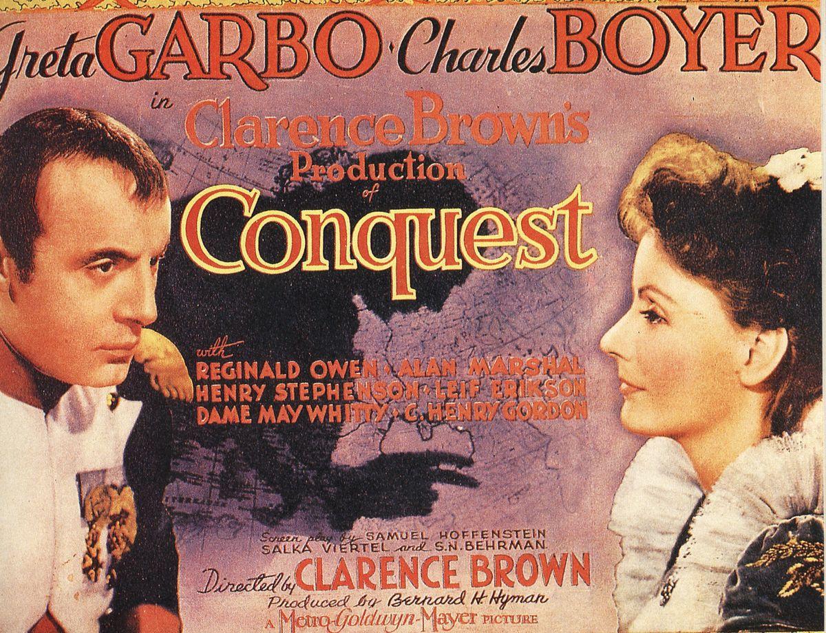 """Plakat filmu """"Conquest"""" (Podbój)."""