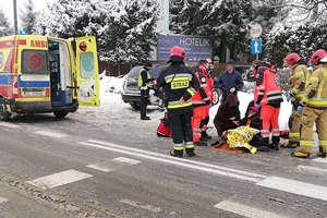 Wypadek w Olsztynie. Potrącona nastolatka trafiła do szpitala [ZDJĘCIA]
