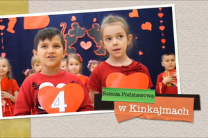 Dzieci z gminy wiejskiej Bartoszyce przypominały o Miłości.