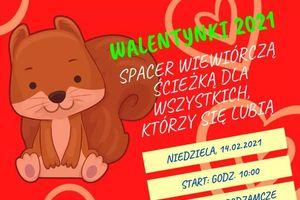 Spacer w dniu zakochanych po Wiewiórczej Ścieżce w Olecku