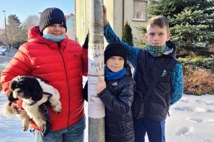 Zrobili plakaty, żeby uczyć dorosłych sprzątania po psach
