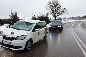 Kierowca trafił do szpitala w Działdowie