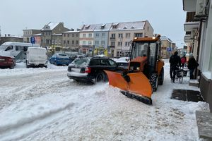 Trudne warunki na drogach w powiecie nowomiejskim