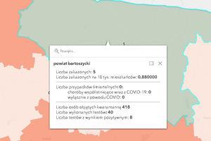 Powiat bartoszycki. Kolejne zakażenia COVID-19.