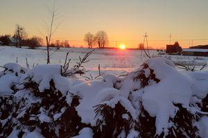 Zachód słońca w Dębowcu