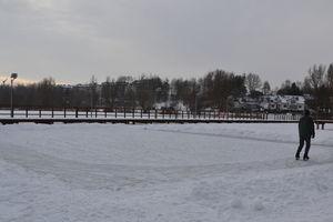 Naturalne lodowisko powstało na jeziorze Sajmino