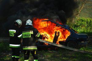 W Olsztynie palił się samochód osobowy