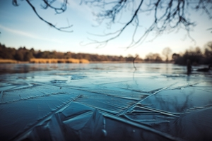 Próba samobójcza na zamarzniętym jeziorze? Na szczęście nieskuteczna