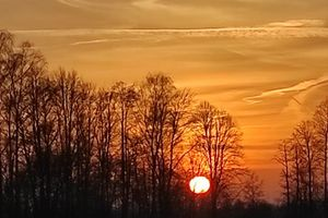 Zachód słońca nad Jarzeniem