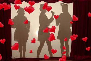 Walentynkowy Teatr Cieni w szkole